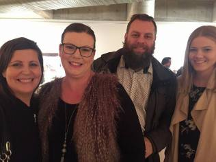 L-R Tracey Endo sister and advocate, Teena from Whoa Mumma, Adam her husband & Jasmine fellow volunteer for Endometriosis Australia
