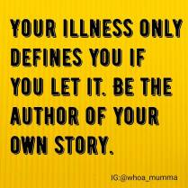 Write your own story, be your own author #journey #chronicillness #chronicpain #Parenting #beautyineveryday #whoamumma
