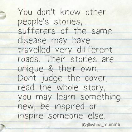 Living with an invisible illness can be hard, people #judge without #understanding but the more we can #educate and talk about #chronicillness or #chronicpain the more we can break down perceptions. #invisibleillness #whoamumma