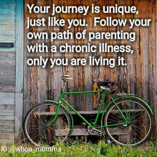 No one else knows your path. Stay true to yourself and your journey #parentingwithchronicillness #chronicillness #chronicpain #beautyineveryday #whoamumma