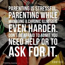 Never underestimate how tough parenting with a #chronicillness is. Be kind to yourself and never be afraid to ask for help #spoonieparent #spoonie #selfcare #whoamumma