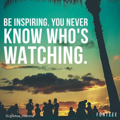 Sometimes people don't realise the impact of their actions and attitude and how inspiring they may be to those watching and struggling. Who are you inspiring today? #chronicillness #chronicpain #spoonie #spoonieparent #beautyineveryday #whoamumma